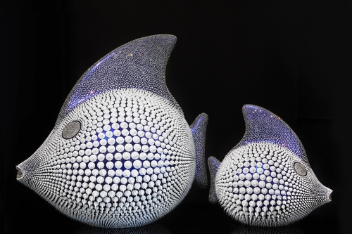 Poisson Lune Bleu Cameleon, 2020 - (80 cm)