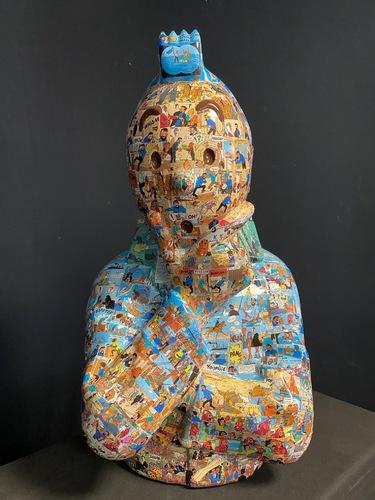 """TINTIN Bras croisés - """"Le manteau de l'enfance"""" Cock en stock (68 cm)"""