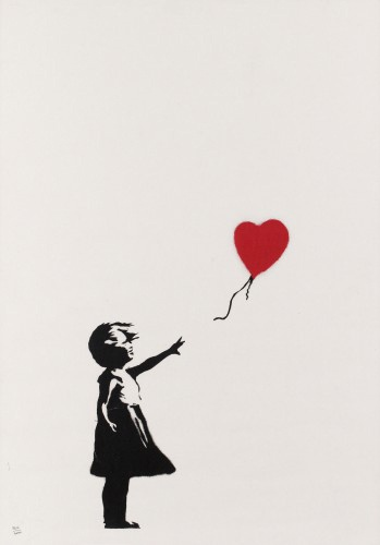 Girl with balloon, 2004 (unsigned)