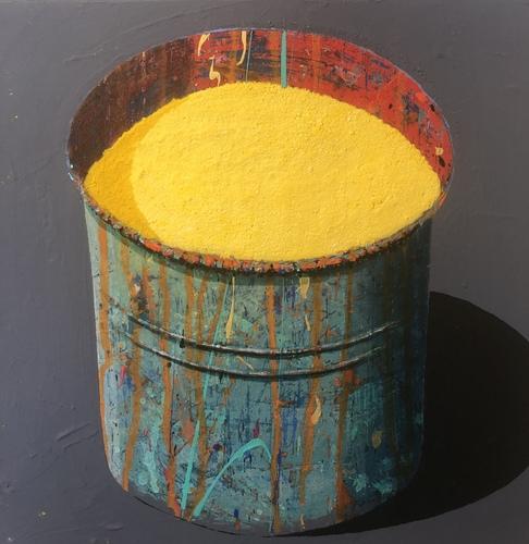 Pot - jaune soleil