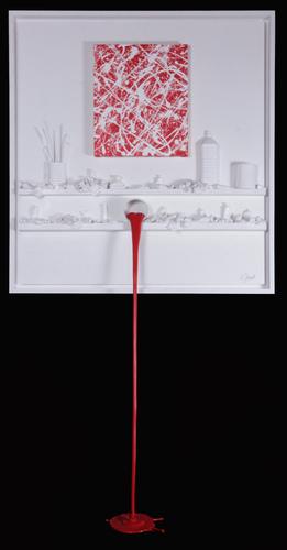 Flow 132 - Hommage à Pollock rouge