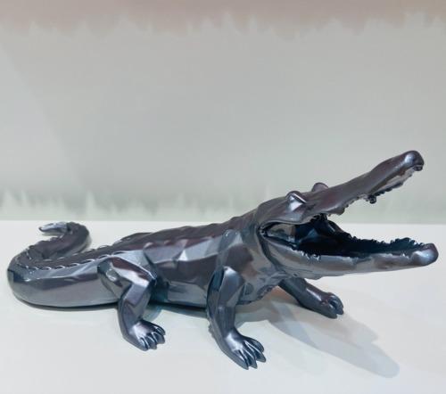 Crocodile Facette - Gris metal (30 cm)