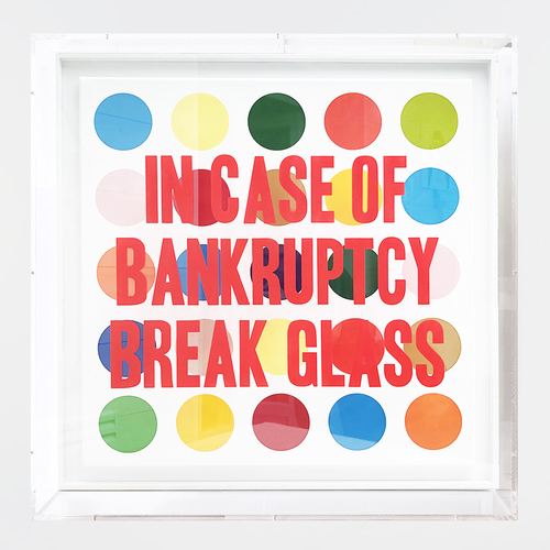 In Case of Bankruptcy - Hirst Dots (80x80cm)