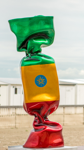 Wrapping Bonbon - Drapeau Ethiopie N°1340, 2011