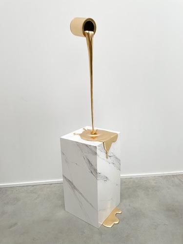 Flow doré - base effet marbre