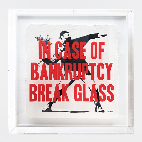 In case of Bankruptcy - Flower Thrower (80x80cm)