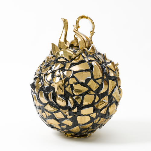Balancing Act-Gold and Black Sphere