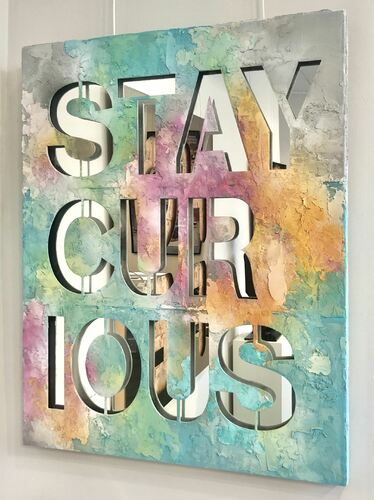 SERIE FULL PAINTED COLORS - Stay Curious - fond colors, 2021