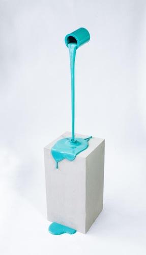 Flow turquois - base effet beton