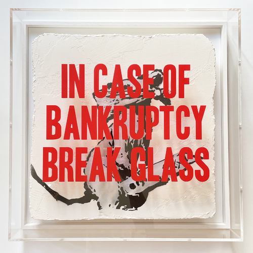 """In Case of Bankruptcy - """"Pompidou Rat Cutter"""", 2021"""