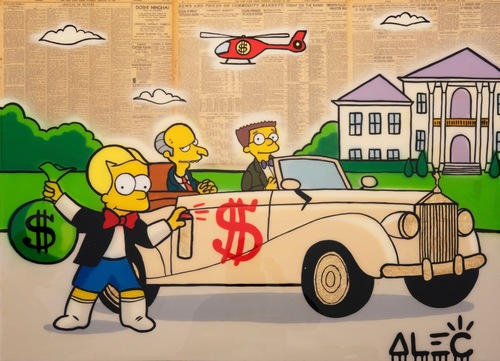 Bart Richie Tagging Mr Burns Car