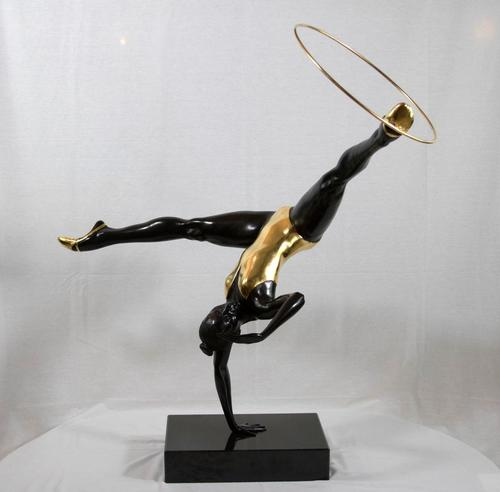 Infinite Dance (table top) bronze black w/24K gold leaf