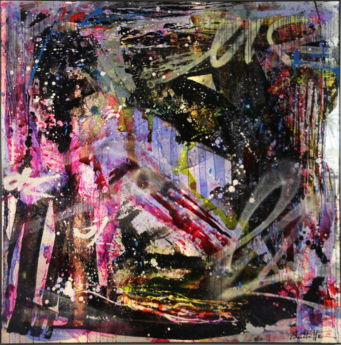 Abstract purple pink