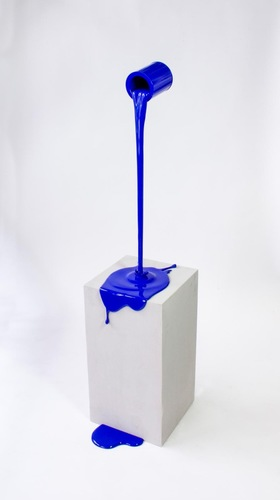 Flow bleu - base effet beton