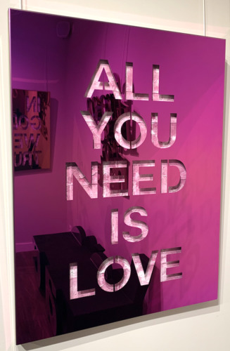 All you need is love - Inox Pink