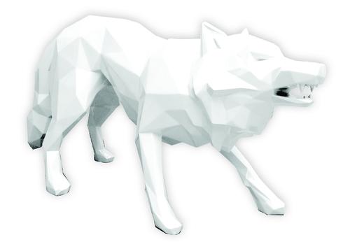 Loup attaque white