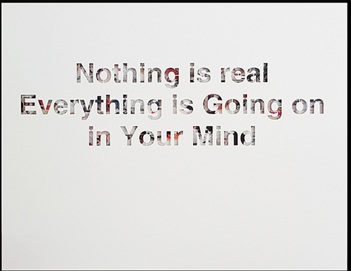 Nothing is real - Alu blanc
