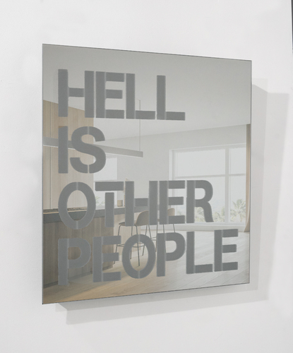 SERIE MIROIRS GRAVES - Hell is other people - Or Gris, 2021