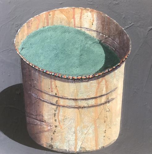 Pot - vert gris