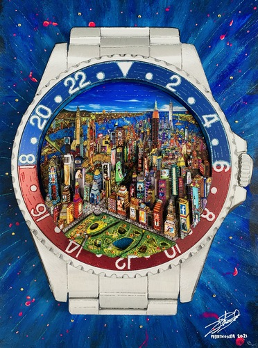 Rolex GMT Master New York by day, 2021
