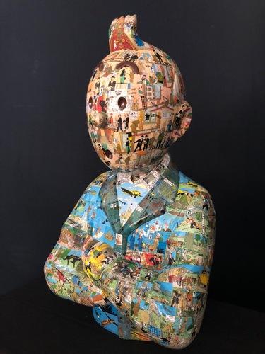 """TINTIN Bras croisés - """"Le manteau de l'enfance"""" Sceptre d'Ottokar (60cm)"""